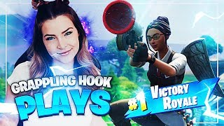 CRAZY GRAPPLING HOOK SHOT! (Fortnite: Battle Royale) | KittyPlays