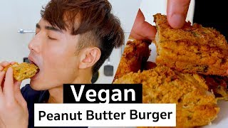Asian Style Peanut Butter Vegan Burger   PicniclyNOW
