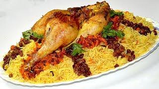 طريقة تحضير الأرز البخاري بالدجاج