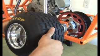 Adding Rear Tires And Locking The Rear Brake Rotor On A Barstoolracer By Www.barstoolracerplans.com