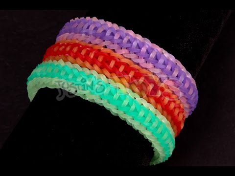 How To Make A Rocket Fishtail EASY 2 Step Rainbow Loom Bracelet
