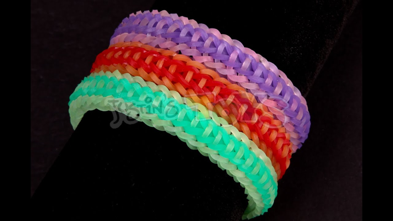 Valentine Bracelets Justin Toys : How to make a rocket fishtail easy step rainbow loom