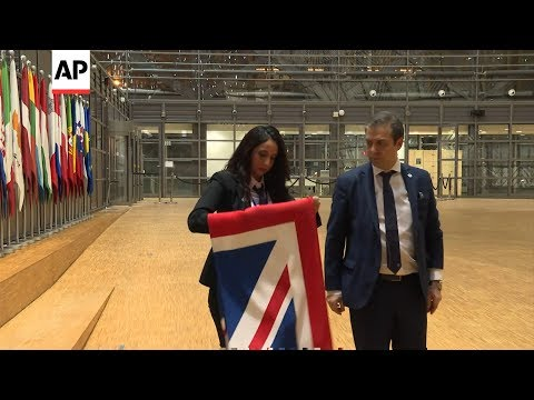British flag removed from EU Council building