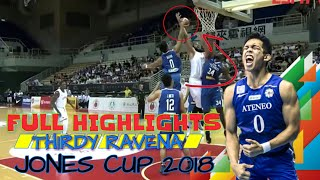 THIRDY RAVENA FULL HIGHLIGHTS JONES CUP 2018