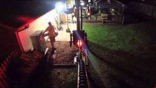 09-04-2015 Backyard Railroad Crossing Gate and Lights GOPRO