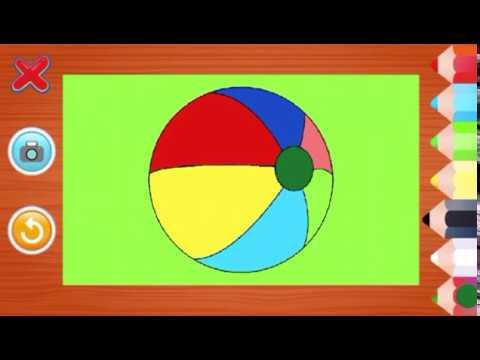 Eğlenceli Boyama Oyunları Elma Ve Top Boyuyoruz Youtube