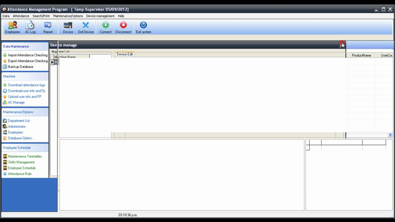 ZK Agregar un dispositivo al Software Attendance Management