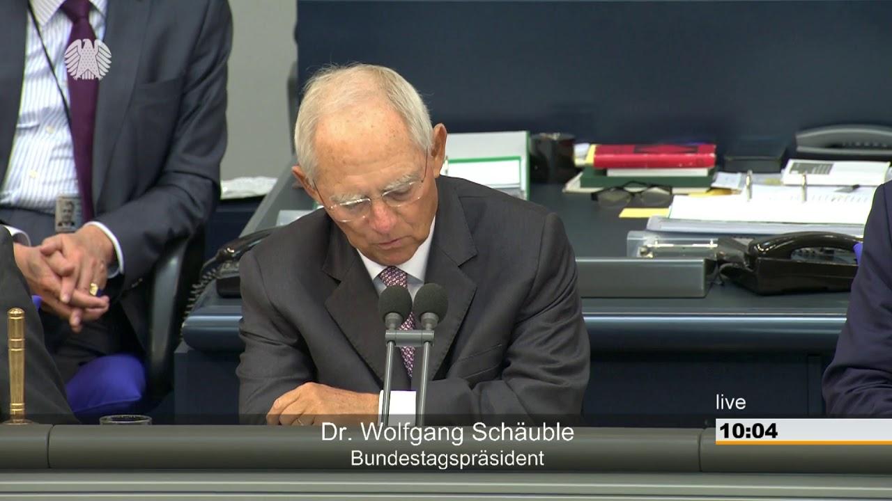 Bundestag - 11. September 2018 - Rede vor Eintritt in die ...