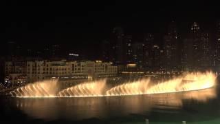 Dubai Mall - The fountain show 2014 in 4K-UHD (Sony FDR-AX100)