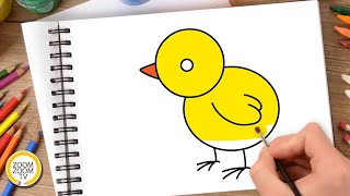 Hướng dẫn cách vẽ CON GÀ - Tô màu con Gà - How to draw a Chicken