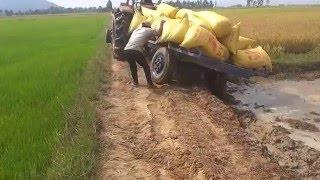 Repeat youtube video tractor - Kubota M6040SU Mower Broken dropped, prepar new, stuck, videos, fail, accidents
