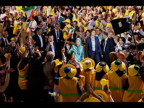 Maryam Rajavi in the Free Iran Grand Gathering in  Le Bourget