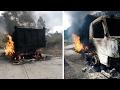 [EXCLUSIVE VIDEO] Aftermath of NPA Gunmen Setting Philex Mining Trucks On Fire In Benguet