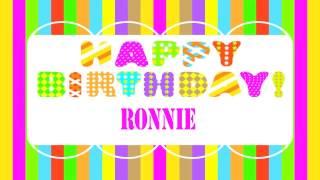 Ronnie   Wishes & Mensajes - Happy Birthday