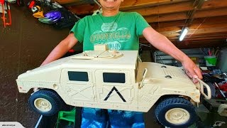 BIGGEST R/C HUMVEE HUMMER H1 r/c in the world!!!