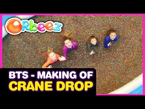 Behind the Scenes - The Making of the Millions of Orbeez Crane Drop Challenge | Official Orbeez thumbnail