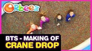 Behind the Scenes - The Making of the Millions of Orbeez Crane Drop Challenge | Official Orbeez