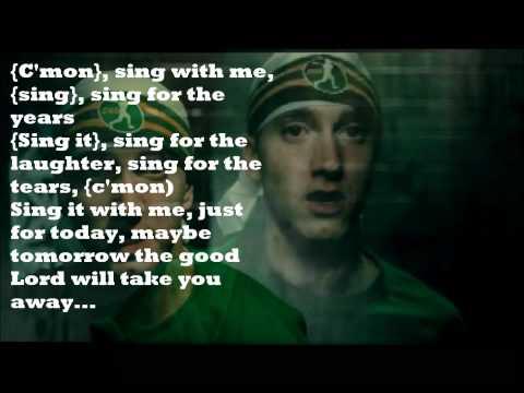 Eminem- Sing For The Moment *Lyrics* [HD]