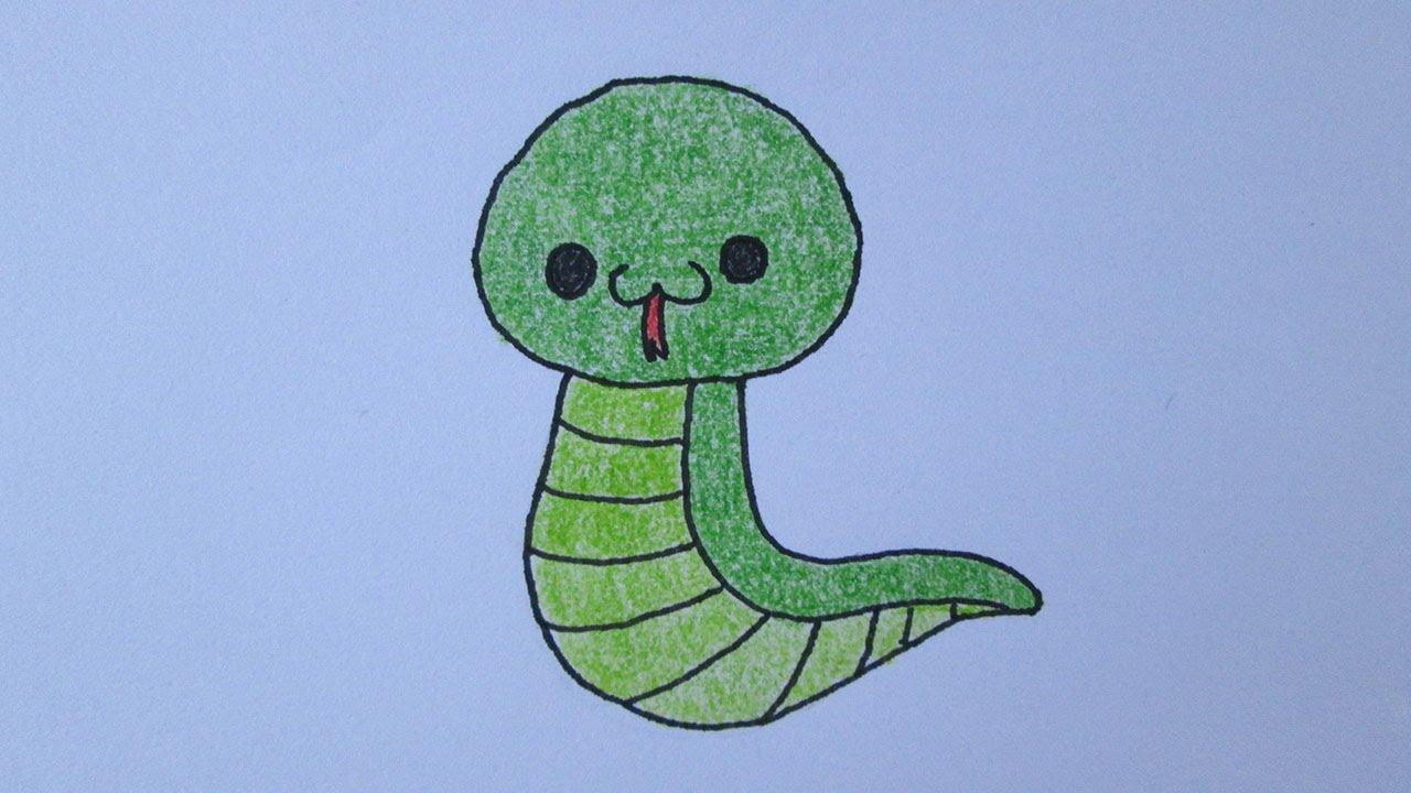 Cómo dibujar una serpiente - YouTube