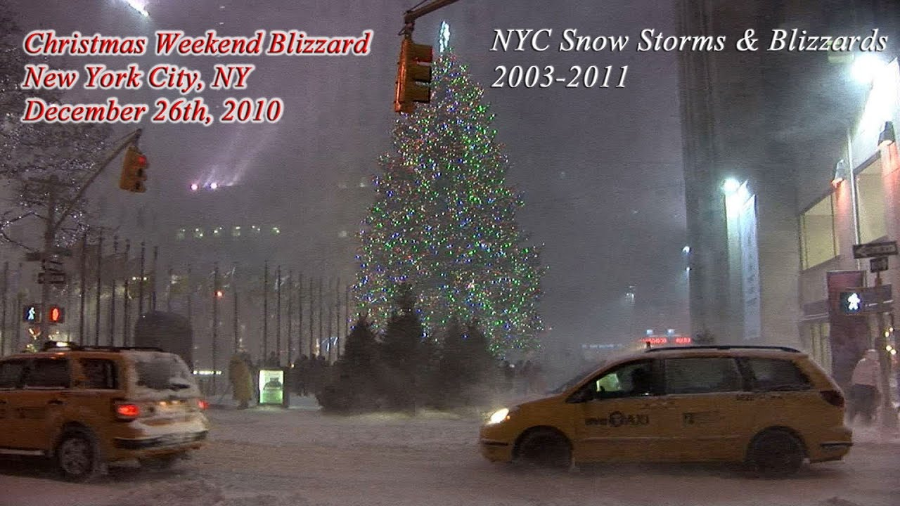 New York City Snow Storm Blizzard Video Highlights 2003