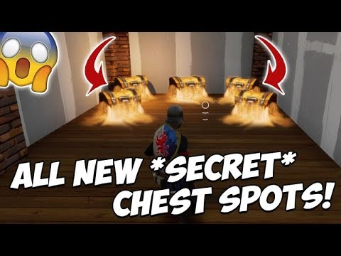 ALL NEW *SECRET CHEST SPOTS* IN NEW MAP UPDATE!! TILTED TOWERS & MORE!! (Fortnite Battle Royale)
