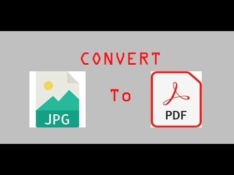 How to convert JPG to PDF file easily
