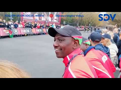 DP Ruto cheers Eliud Kipchoge in Vienna