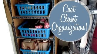 Coat Closet Organization!