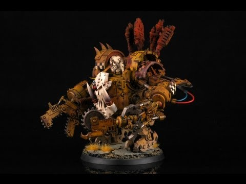 How to paint an Ork Deff Dread? Warhammer 40000 wh40k orks Bad Moonz Buypainted