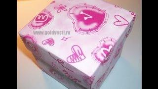 Крышечка Для Квадратной Подарочной Коробочки. Origami box lid(Квадратная подарочная коробочка своими руками. Крышечка для коробочки. Коробочку для подарка можно легко..., 2014-04-16T15:17:39.000Z)