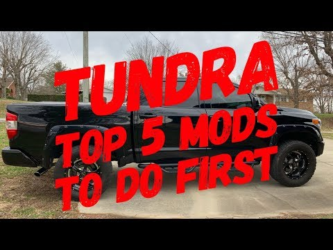 Tundra Top 5 Mods To Do First