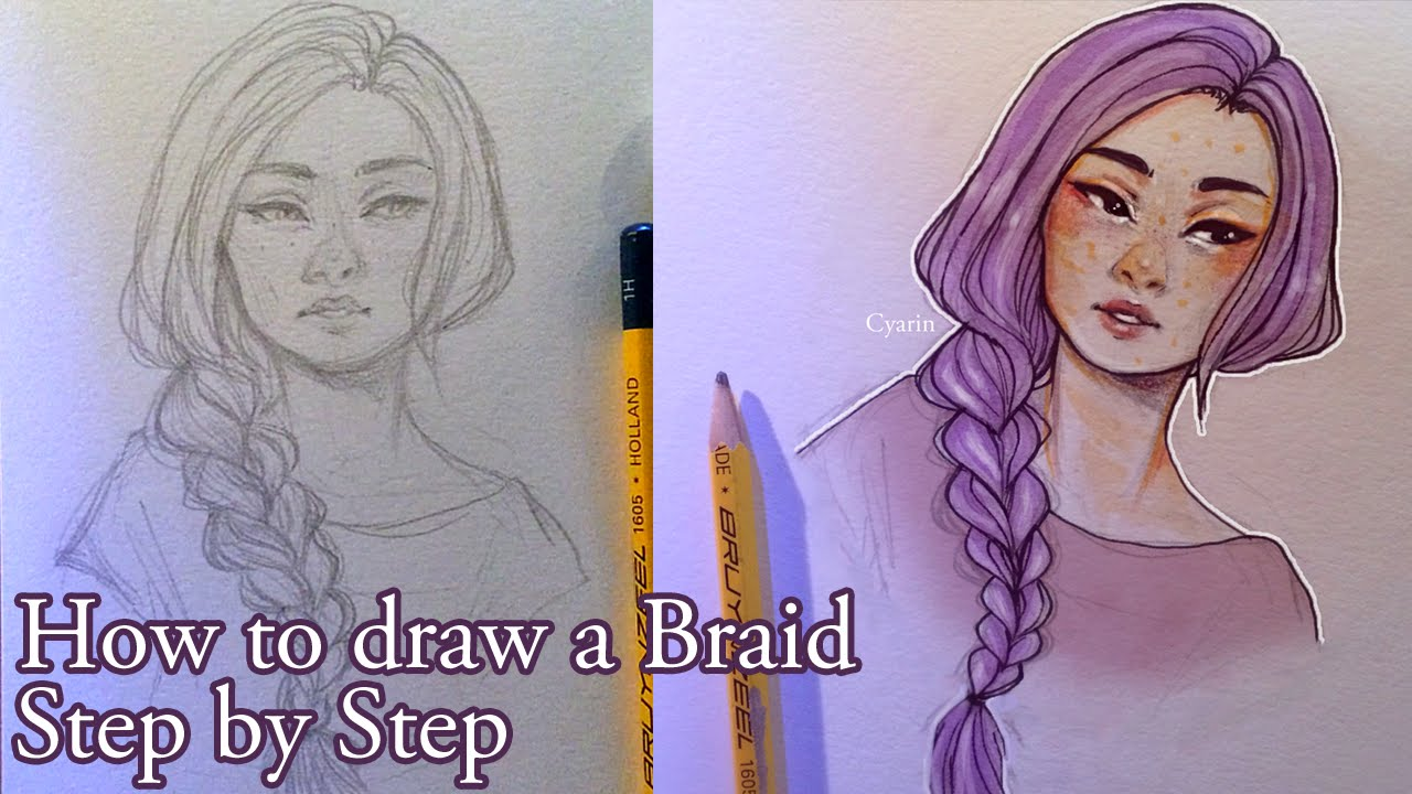 step by step how to draw a braid youtube