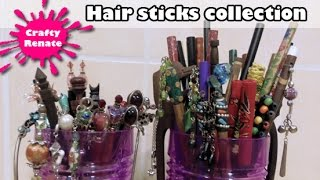 My hair sticks & forks collection
