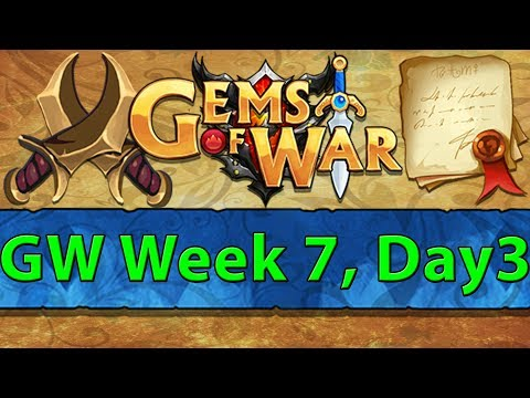 ⚔️ Gems of War Guild Wars | Week 7 Day 3 | Queen Aurora and The Solo Spider ⚔️