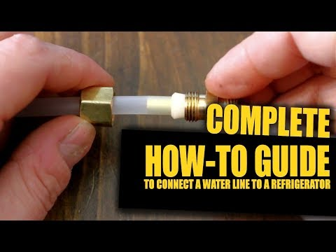 How To Connect A Water Line To Your Refrigerator | GOT2LEARN