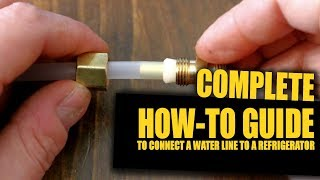 How To Connect A Water Line To Your Refrigerator (+Tips & Tricks) | GOT2LEARN