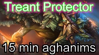 DoTa 2 How To Jungle Treant Protector  Aghanim's Scepter