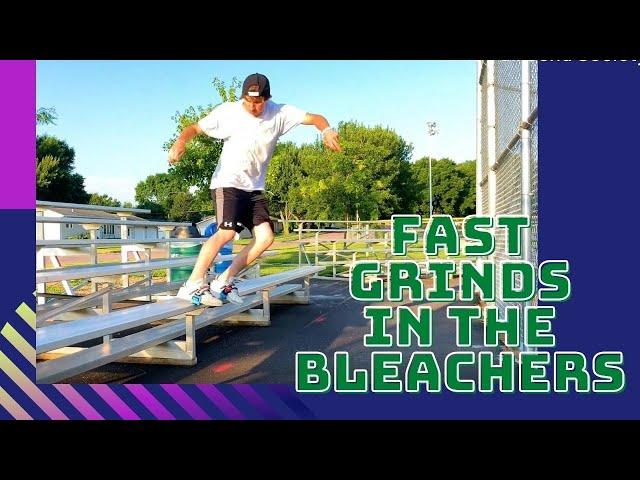 Fast Grinds in the Bleachers | Skidz Grindplates