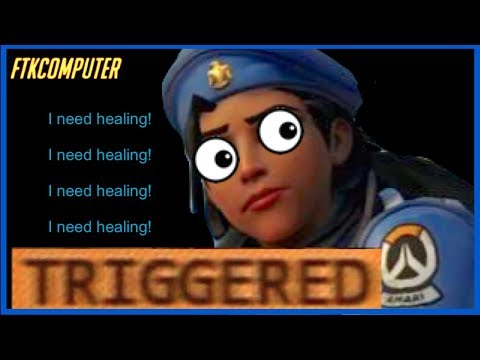 Acting Petty After Being Forced to Solo-Heal for the 3rd Time (Overwatch)