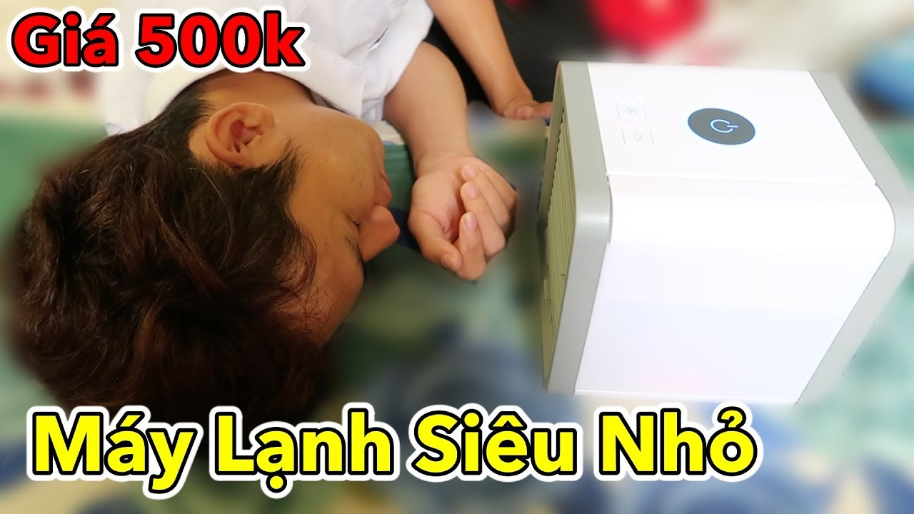 Lâm Vlog - Dùng Thử Máy Lạnh Mini Giá 500k | Máy Điều Hòa Siêu Nhỏ