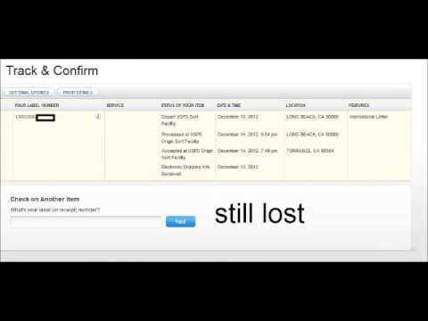 Lost Or Stolen Usps Post Office International Package Long