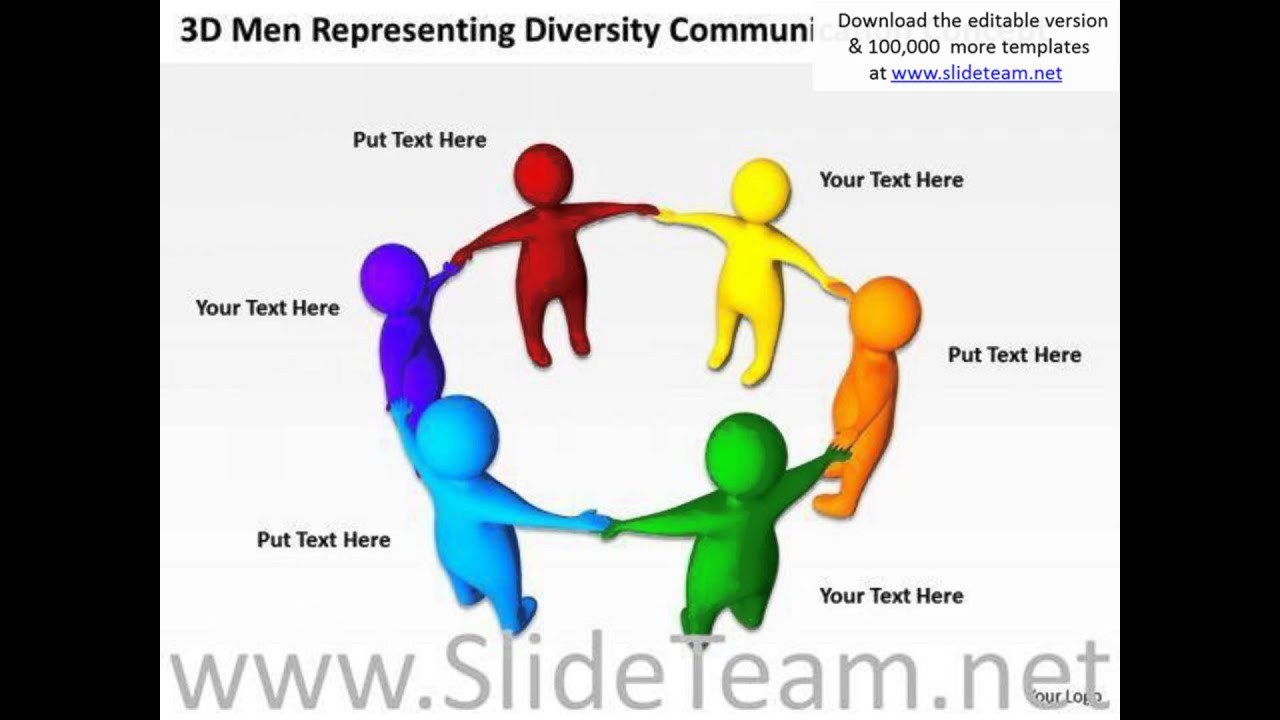 Communication Cycle Diagram 6 Wire Trailer Wiring Of Business 3d Men Representing Diversity
