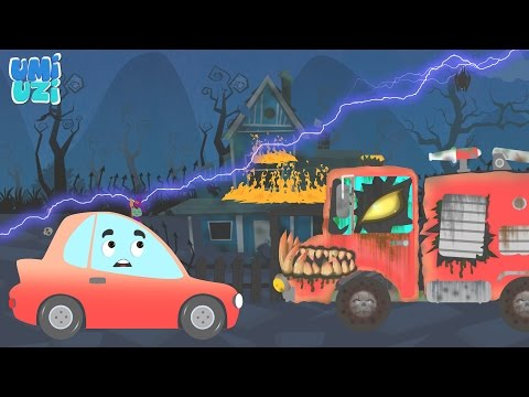 Broom | Scary Car And Street Vehicles | Magic Car | Vehicles  Adventures