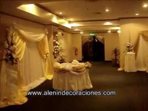 Decoraci n de bodas youtube for Decoracion de salon para boda
