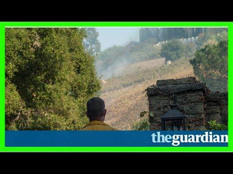 Wildfire singes rupert murdoch's winery as it rips through bel-air