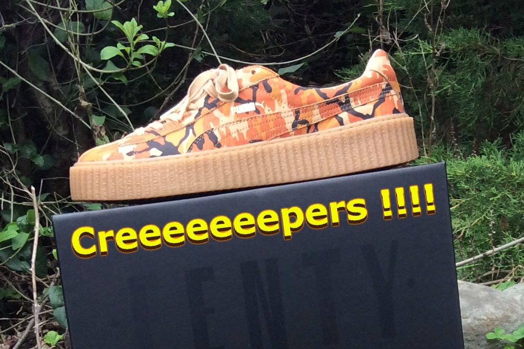 2180f87355f5be RIHANNA x PUMA Camo Creepers Unboxing and On-Foot Review - YouTube