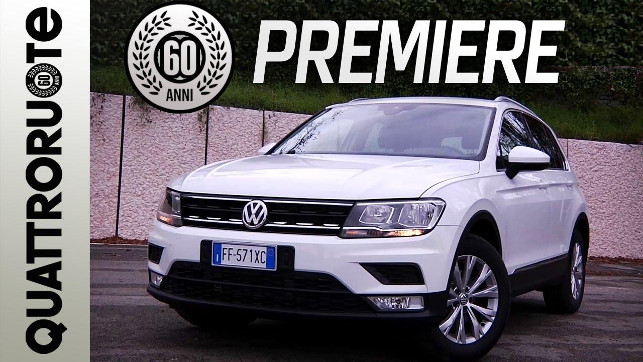 nuova volkswagen tiguan il test drive  quattroruote exclusive premiere youtube