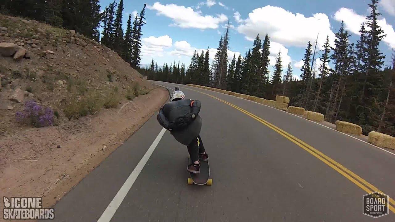 downhill skateboard racing pikes peak downhill 2013 youtube