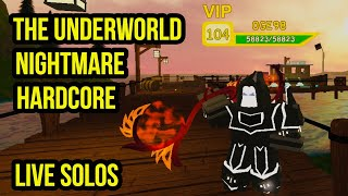 ⚔️ ROBLOX Dungeon Quest Die Unterwelt | Alptraum Hardcore | Solo betreibt LIVE ⚔️