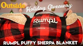 Holiday Gift Gear Giveaway: Rumpl Sherpa Blanket